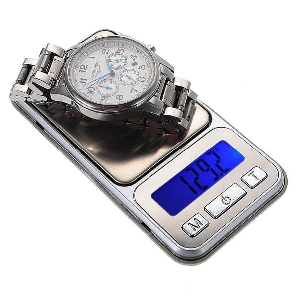 Features: Digital Pocket Scale 500g/0.1g One compact digital pocket scale with 500g capacity and 0.1g resolution Unique design with the appearance of an iPhone This sleek pocket scale supports most weight units, tare weighing, auto power-off, and automatic calibration. It features a large...