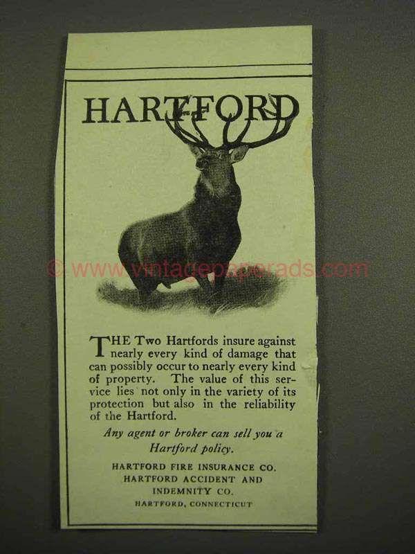 1918 Hartford Insurance Ad Hartford Insurance Insurance Ads