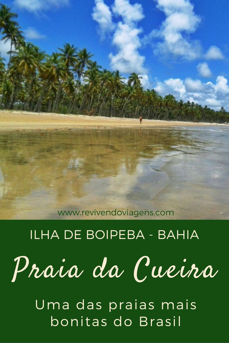 A praia da Cueira, na Ilha de Boipeba, sul da Bahia, é uma das praias mais bonitas do Brasil. Enorme, cheia de coqueiros e praticamente deserta. Um verdadeiro paraíso. Nordeste.