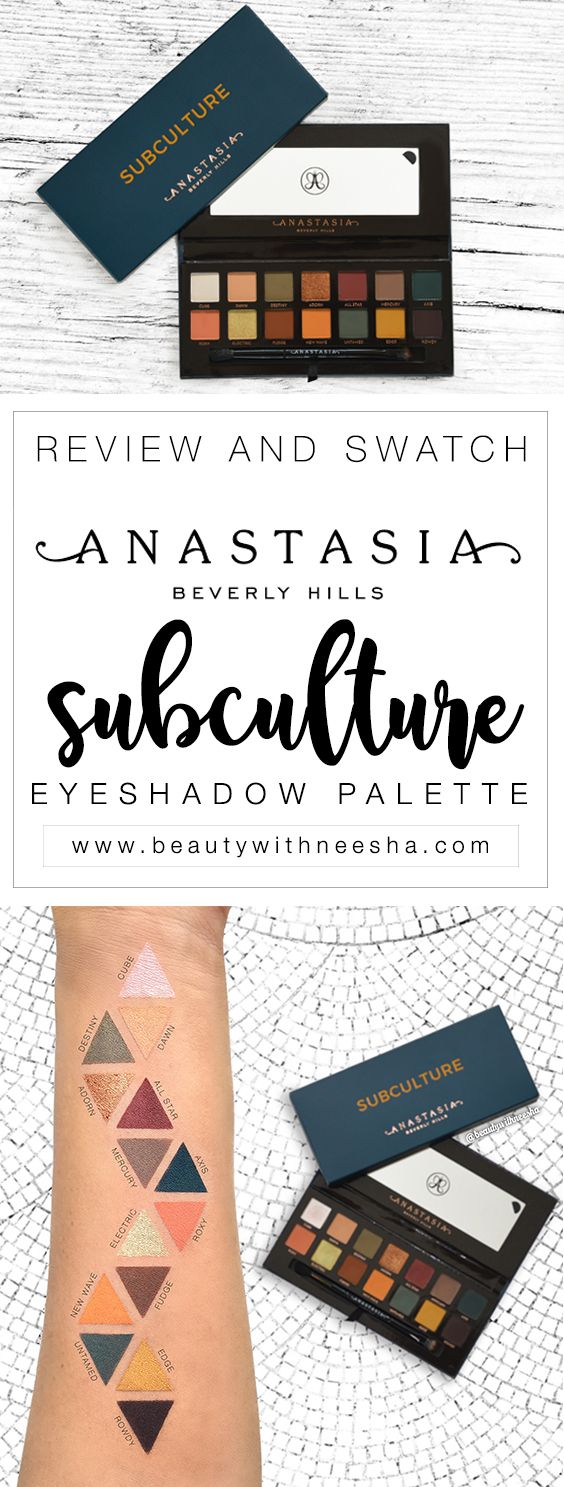 Review and Swatch Anastasia Beverly Hills Subculture Palette Review and Swatch ABH Subculture Eyeshadow Palette Review. I'm going to fucking die if I don't get my hands on this omg
