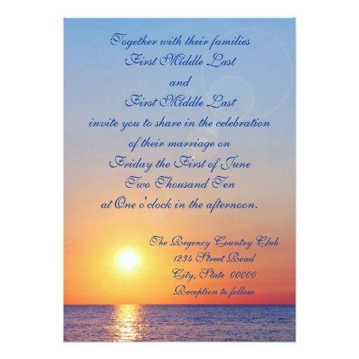 Sunset Beach Wedding Ideas: 196 Best Images About Sunset Wedding Invitations On