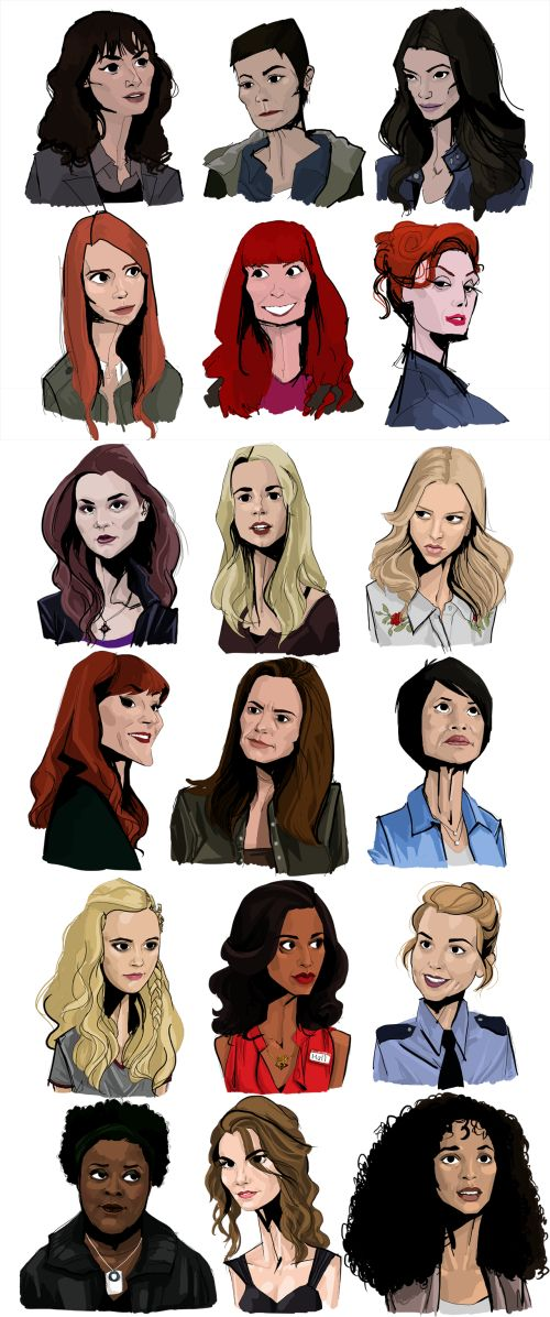 I think they managed to get ALL my favourite SPN Ladies in one!!! Let's see if I can name them all: Hannah, Jody, Ruby, Anna, Charlie, Abaddon, Meg, Jo, Mary, Rowena, Ellen, Linda, Claire, Kali, Donna, Missouri, Bela/Abby, and Cassie. *whew* did it!