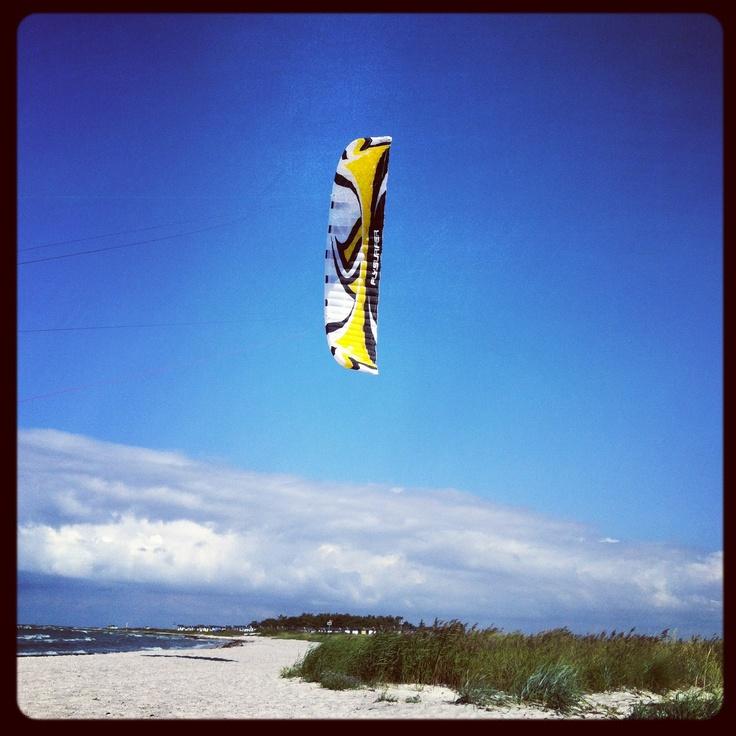 Kitesurfing in lovely Skanör, South Sweden