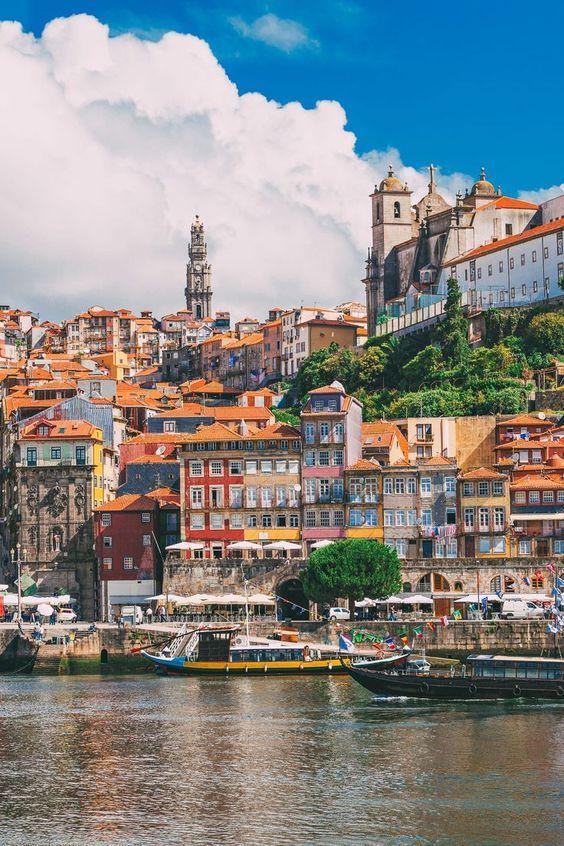 In colorful Porto, Portugal.
