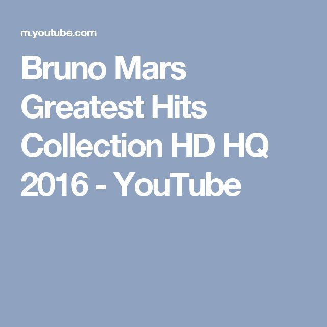 Bruno Mars Greatest Hits Collection HD HQ 2016 - YouTube