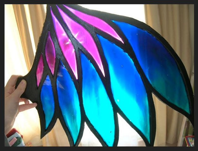 Stain Glass Wing Tutorial. This could come in handy for cosplaying any of the girls from W.I.T.C.H