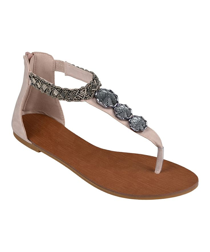 Sport some sunny-day chic with these sweet sandals. Boasting a beautiful  gladiator silhouette with a bejeweled strap, this pair will dominate the  fashion ...