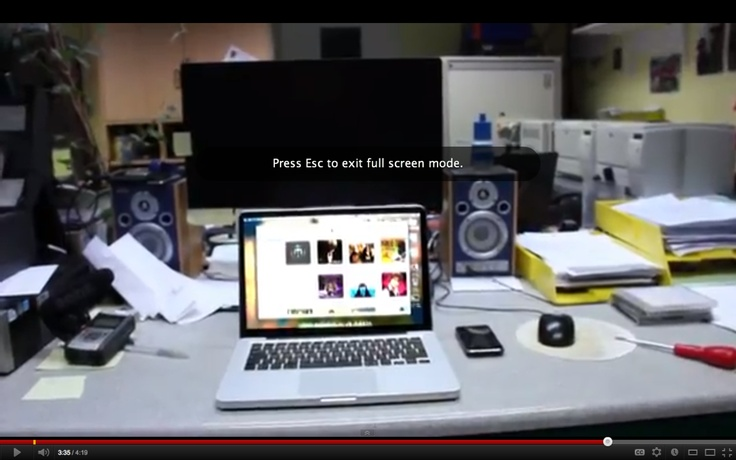 The part of society which uses Apple products is also represented; as seen in this screenshot, a Macbook Pro is a key prop in the film opening.