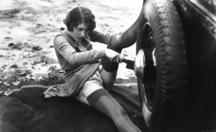 That's how I looked last time I changed a tire ;)