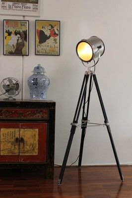Tripod floor lamp - Marine Nautical Search Light Floor Lamp