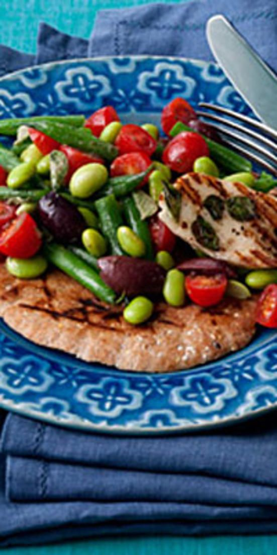 Two-Bean Greek Salad  - Stuck in a salad rut? These creative and satisfying mixes will fill you up with fiber and protein—not calories.