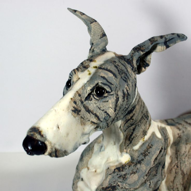 Love this Lurcher?  So did someone else as WOW! sold it but we can commission a similar one - perhaps your #dog is a brown brindle? #dog sculpture