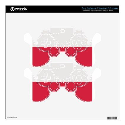 #Low Cost! Poland Flag PS3 Controller Skins - #travel #electronics