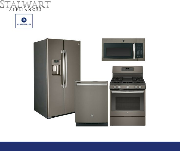 #Matte #kitchen #appliances have made their way into #2017's spotlight! Check out our #GE appliances that feature a #grey matte finish.