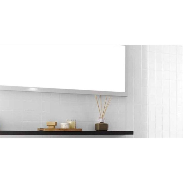 Shower walls and counter splashback Laminex Aquapanel 2.7x2400x1200mm Polar White Tile