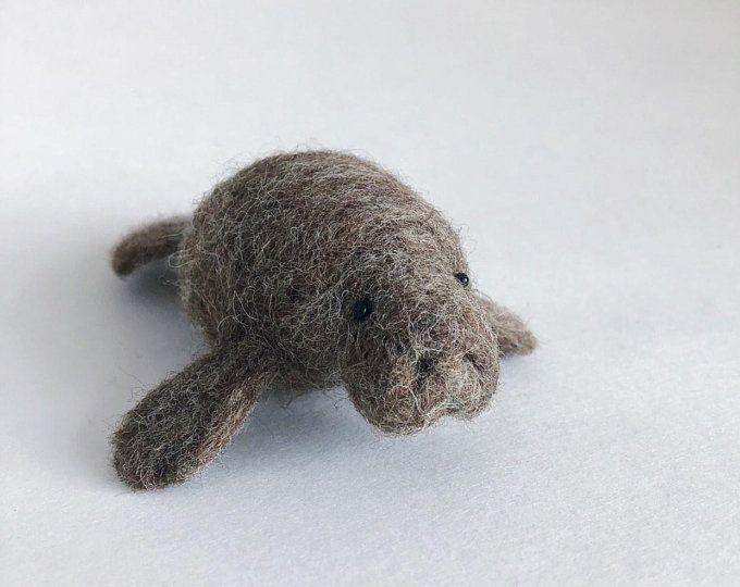 toy decoration Waldorf gray gift wool elephant Needle felted