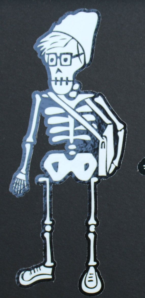 Day of the Dead Hipster Boy car sticker