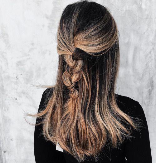 half braid   hair