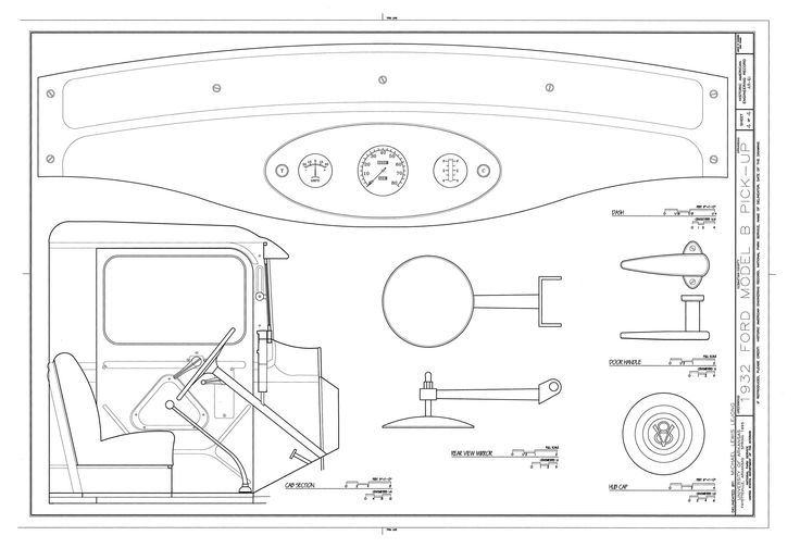 32 best 32 ford blueprints images on pinterest