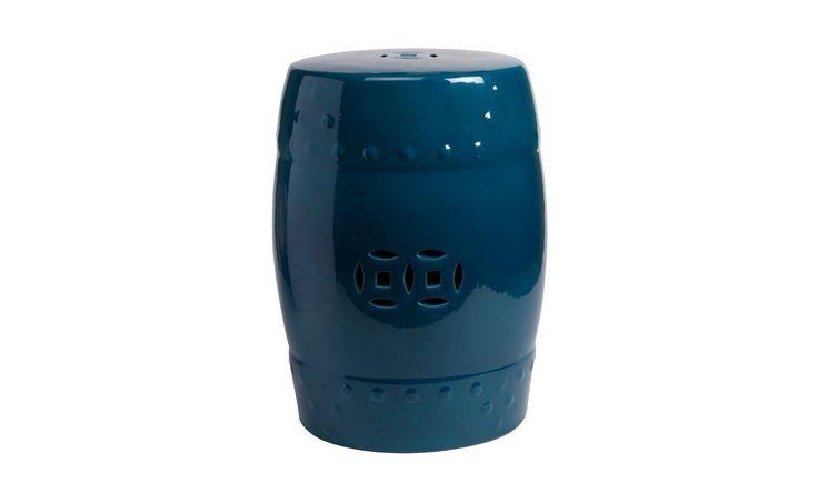 """Этот предмет интерьера глубокого синего цвета может использоваться и как мини-табурет, и как миниатюрный приставной столик, на котором разместится чашка ароматного горячего кофе или чая. """"GARDEN STOOL DARK BLUE"""" изготовлен из керамики и имеет глазированное покрытие. Красиво, изящно, необычно – тонкие и затейливые восточные ноты в интерьере вашего дома. Предмет также идеально подойдет для украшения террасы."""