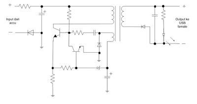Merubah sumber AC ke DC power supply charger handphone - Peralatan Kontrol