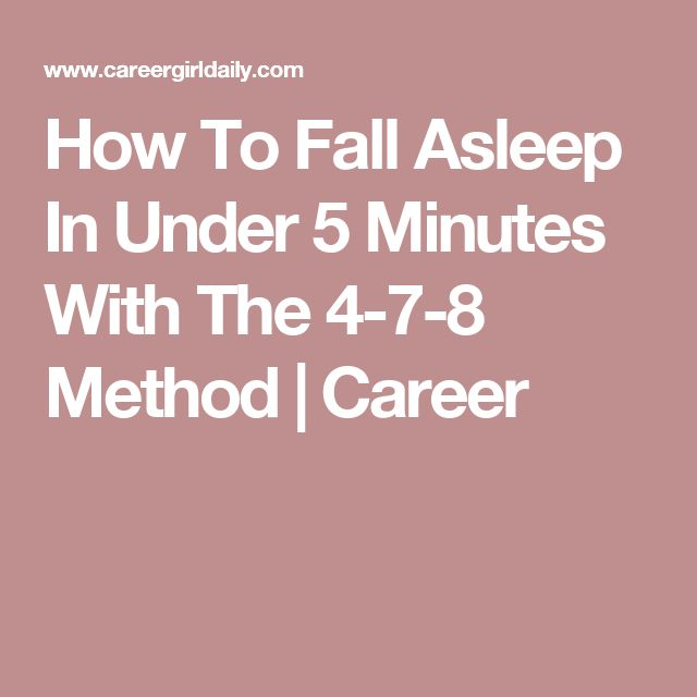 21 best sleeping images on pinterest health sleep help and can how to fall asleep in under 5 minutes with the 4 7 8 method ccuart Gallery