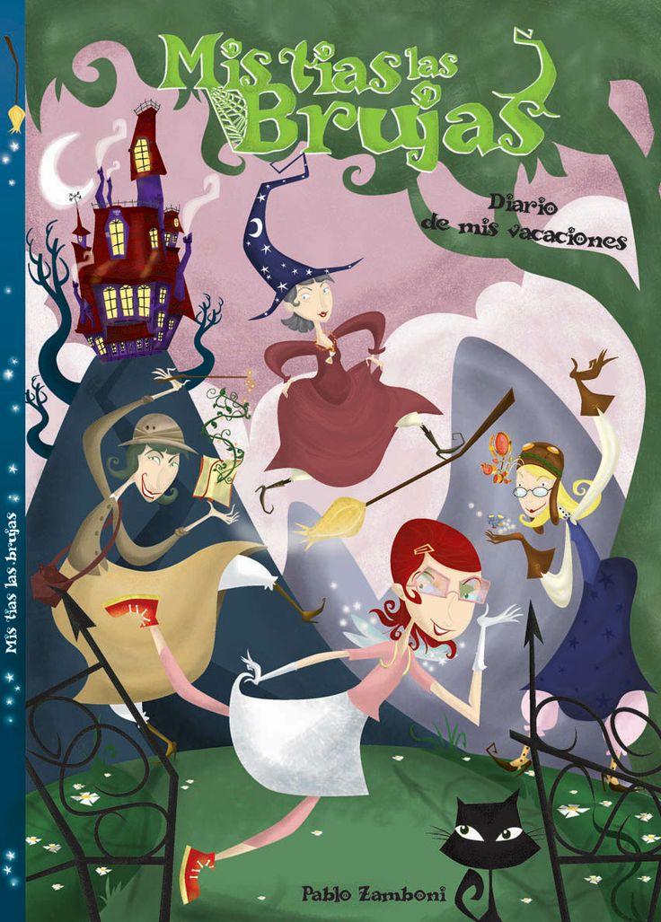 """Tias Brujas. Boceto de tapa de la novela grafica """"Tias brujas""""."""