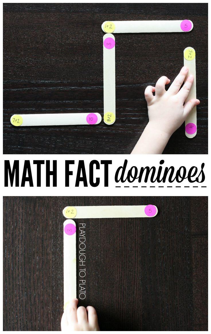 Super Fun Math Fact Game! Play Math Fact Dominoes!!