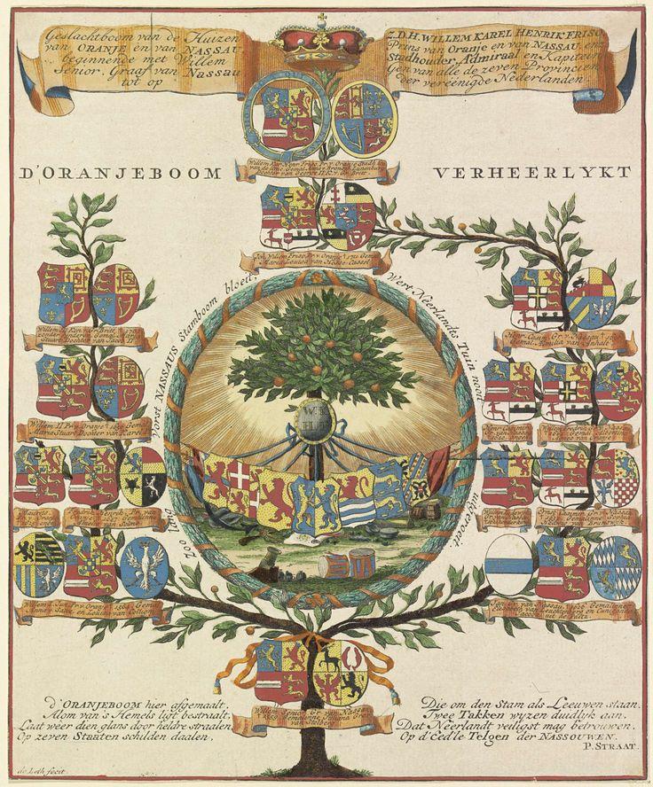 Stamboom van het Huis Oranje-Nassau, Hendrik de Leth, P. Straat, 1747 - 1766