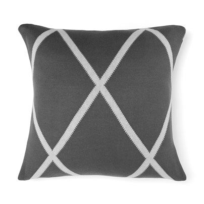 Diamond Cushion in Charcoal 50cm