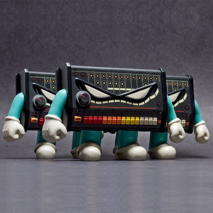 """Patrick Wong's """"TR808"""" Resin Figure is based on the Roland TR-808 Drum Machine!"""