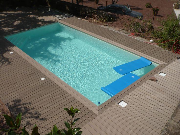 Piscine hors sol bois linea 500x800xh140cm bleu ubbink for Catalogue piscine bois