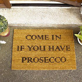Prosecco Doormat: Item number: 3573465435 Currency: GBP Price: GBP17.95