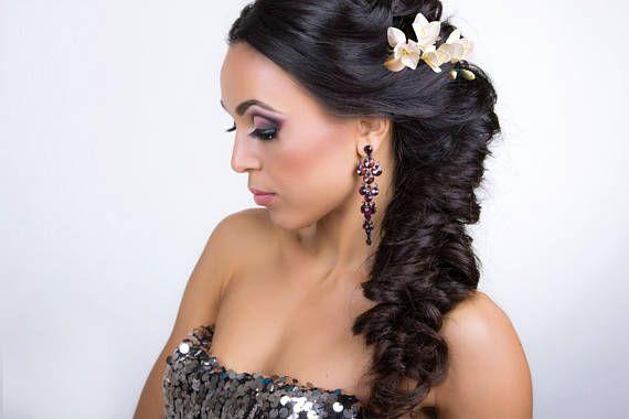 wedding flower pin ivory freesia hair accessory Wedding Head