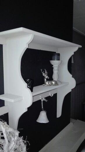 Brocante stijl regaal in grey.. (hxbxd) 71x75x20 cm