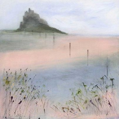 Lindisfarne by Sue Fenlon  Signed limited edition mounted print.  Also available on stretched canvas