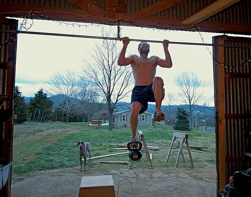 Weighted Pull Ups with 24Kg Kettlebell by hrtmnstrfr, via Flickr