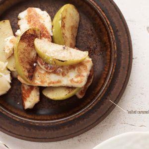 I Quit Sugar - 'Salted Caramel' Haloumi + Apple