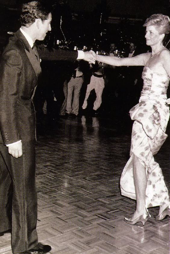 """January 27, 1988: Prince Charles & Princess Diana dancing to """"Dance in Oz"""" at a Bicentennial dinner and dance in Melbourne, Australia. #PrinceCharles"""