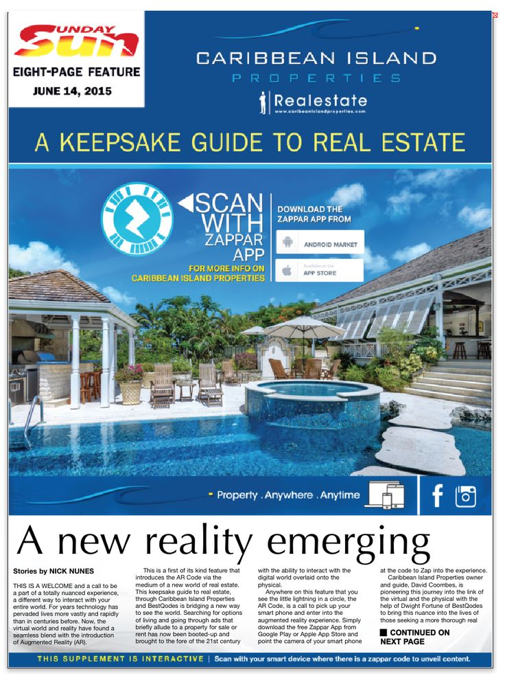 Caribbean Island Properties used our services to design there interactive feature in The Nation Newspaper (Barbados).  #augmentedreality #innovative #creative #realestate #advertising #marketing #design #technology
