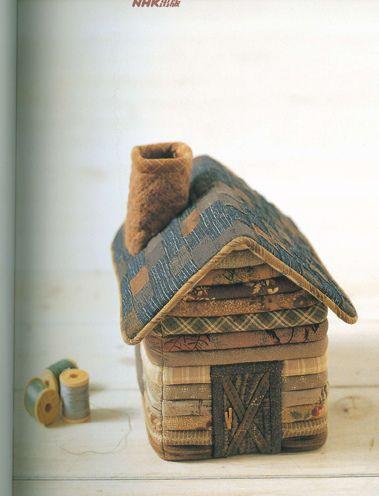 fabric log cabin