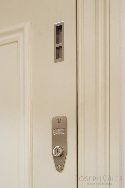 Joseph Giles Flush Security Bolt in Stainless Steel on Front Door