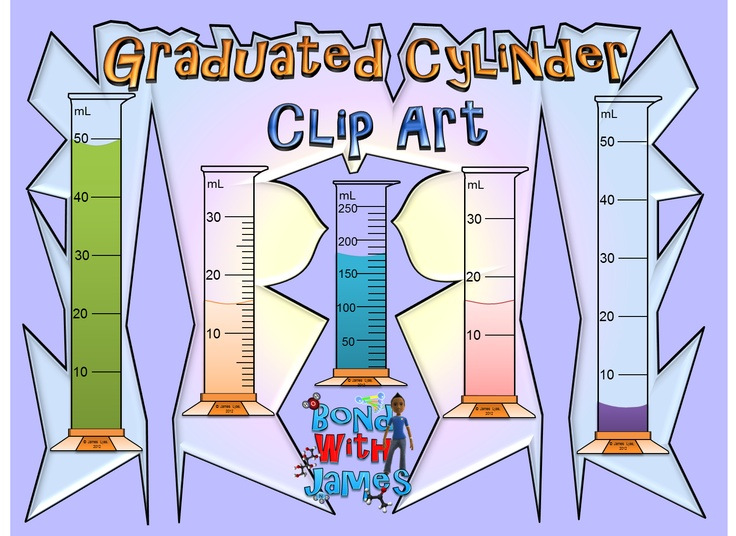 Graduated cylinders clip art graduated cylinders clip