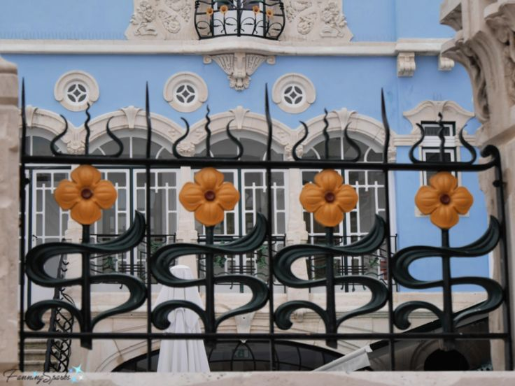 Beautiful Wrought Iron Fence at Art Nouveau Museum in ...