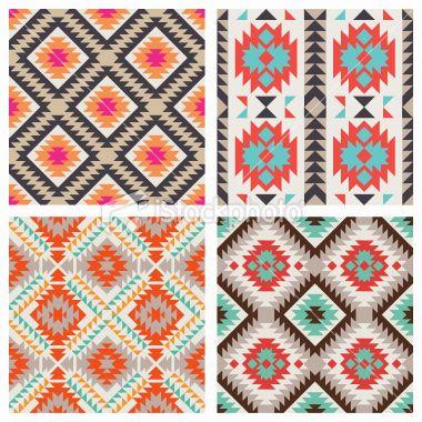 Ethnic pattern set Royalty Free Stock Vector Art Illustration 12 credits