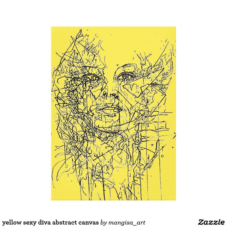 yellow sexy diva abstract canvas