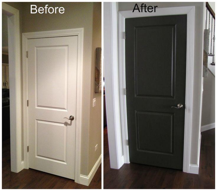 Dark Doors With White Trim Double Glass Double Main Black Interior Doors With White Door