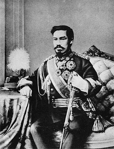 明治天皇、Meiji Tennô, Emperor Meiji opened Japan to the rest of the world. Meiji Perdiod 1868-1912
