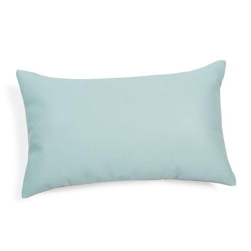 Kussen in blauwe stof 30 x 50 cm LADER