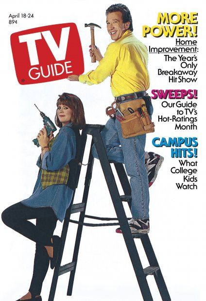 TV Guide April 18, 1992 - Patricia Richardson and Tim Allen of Home Improvement.